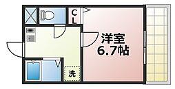 FLAT34深江橋[9階]の間取り