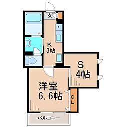 サウスサイドハウス[2階]の間取り