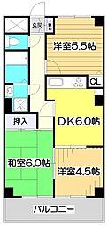 クレストコート・ヒルズ[2階]の間取り