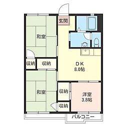 コ−ポスリ−[2階]の間取り