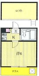 ジュネパレス松戸第62[1階]の間取り