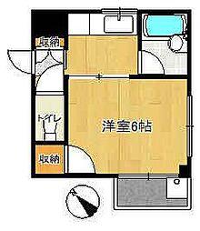 王子ハウス[202号室]の間取り