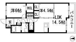 プラビーラコート7[3階]の間取り