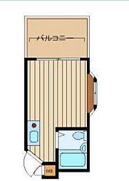 リジョイスI[402号室]の間取り