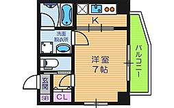 フォーチュン天王寺[4階]の間取り