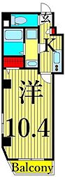 東武伊勢崎線 浅草駅 徒歩11分の賃貸マンション 5階1Kの間取り