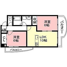 B・INSIDE II[3階]の間取り