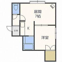 アンファン47[3階]の間取り