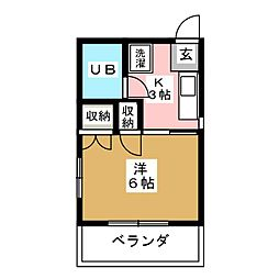 鹿野アパート[2階]の間取り