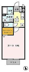 ASUKAハイツIII[1階]の間取り