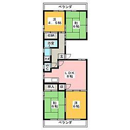 シルク弐番館[2階]の間取り
