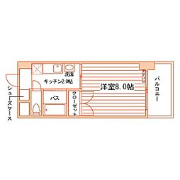 松井ビル[403号室]の間取り