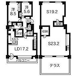 北海道札幌市中央区宮の森一条15丁目の賃貸マンションの間取り