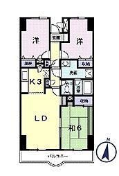 グランドバレー[5階]の間取り