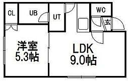 5・3ビル[2階]の間取り
