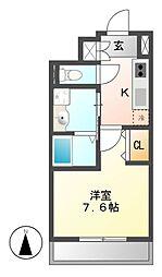 パルティール新栄[8階]の間取り