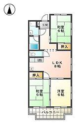 第2シャトープレドパーク[3階]の間取り