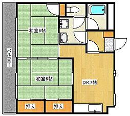 広島県広島市東区矢賀3丁目の賃貸マンションの間取り