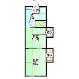 丸い荘[7号室]の間取り