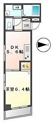パルコート伊勢山[4階]の間取り
