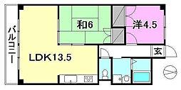 松山グランドハイツ[505 号室号室]の間取り