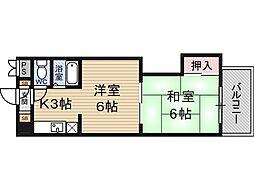 ハイツ上田2階Fの間取り画像