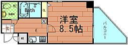 HF阿波座レジデンス[7階]の間取り
