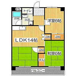 Le・Reve(ラ・レーヴ)[4階]の間取り