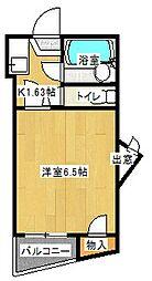 京阪本線 滝井駅 徒歩5分の賃貸マンション 5階ワンルームの間取り