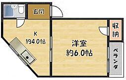 アパートメント門真II[3階]の間取り