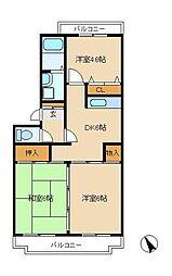 松戸ハイツ[4階]の間取り