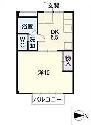 レジデンス円明[2階]の間取り