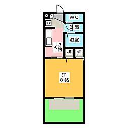 ラ・ロッシュ[1階]の間取り
