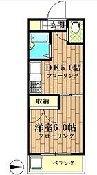 東京都世田谷区祖師谷1丁目の賃貸マンションの間取り