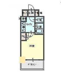 エスリード新梅田[6階]の間取り