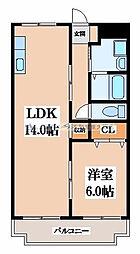 コーポニシヨシ[2階]の間取り