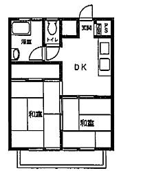 森ビル[4階]の間取り