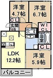 (仮称)D-room大津市大萱六丁目[201号室号室]の間取り