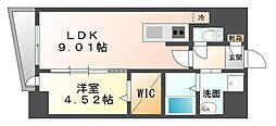 LAZO Kiyokawa[10階]の間取り