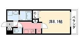 AMARE甲東園[204号室]の間取り