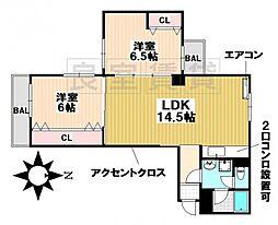 愛知県名古屋市瑞穂区春山町の賃貸マンションの間取り