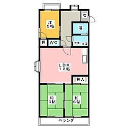 メゾンフローレス[3階]の間取り