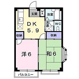 群馬県伊勢崎市田中島町の賃貸アパートの間取り