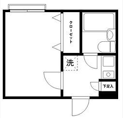 クレッセントO-4[202号室]の間取り