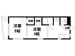 メゾンポエム7[3階]の間取り