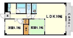グレースフルハイツ1号館[1階]の間取り