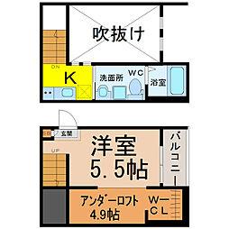愛知県名古屋市中村区太閤5丁目の賃貸アパートの間取り