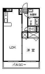 エアフォルク2[102号室]の間取り