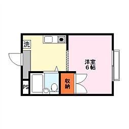 サテンドール草津[4階]の間取り
