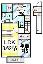 カーサ・Y II(インターネット費用込)[2階]の間取り
